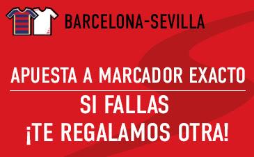 sportium bono 50 euros devolucion Liga Barcelona vs Sevilla 28 febrero
