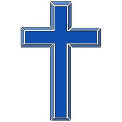 christian cross clip art blue - photo #7