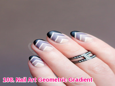 Nail Art Geometric Gradient
