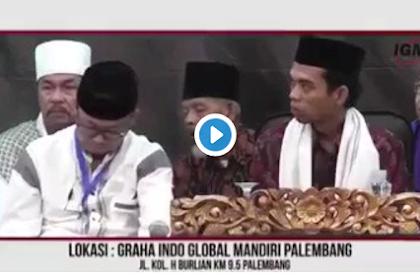 Penuh Haru Mantan Ketua DPR Marzuki Ali Menangis Minta Tuan Guru Abdul Somad Menerima Amanah Cawapres (Video)