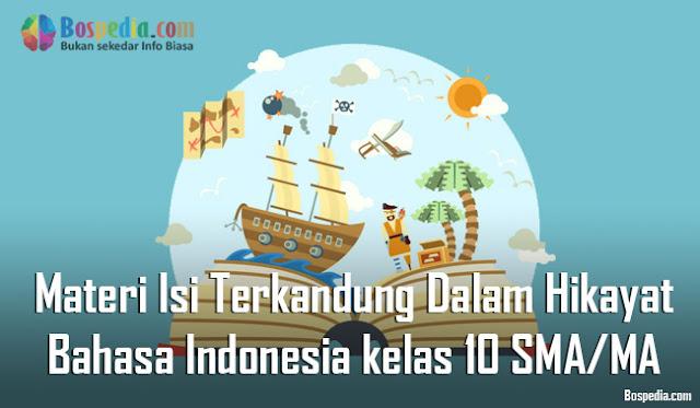 Materi Isi yang Terkandung Dalam Hikayat Mapel Bahasa Indonesia kelas 10 SMA/MA