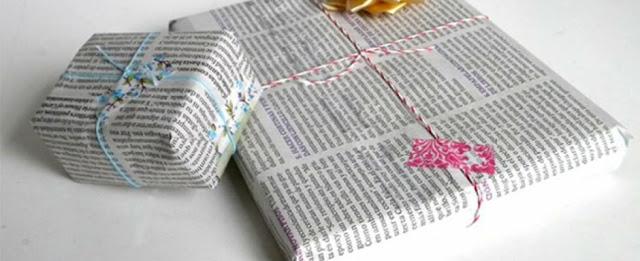 Esta Navidad, envuelve tus regalos con papel periódico por el bien del planeta