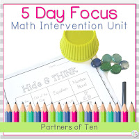 This related unit for teaching partners of ten can be found on Teachers Pay Teachers.
