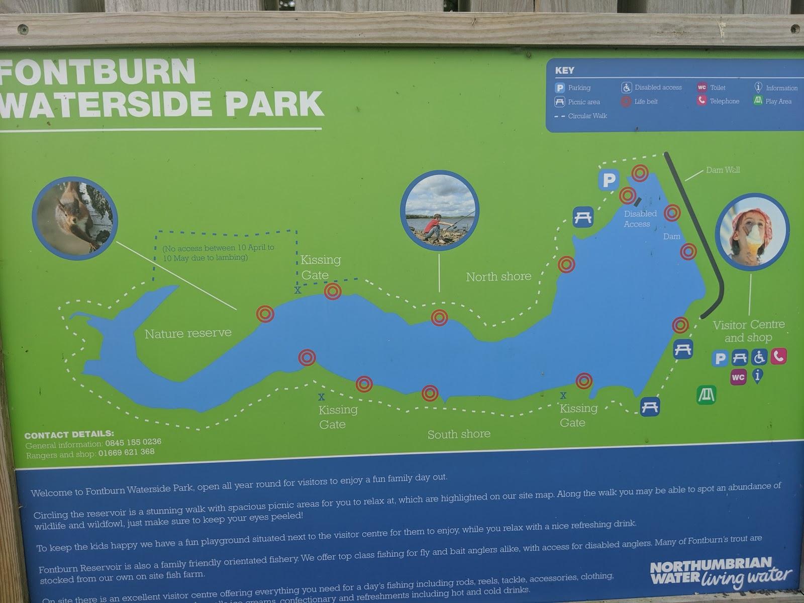 Fontburn Reservoir | Family Walk & Play Park  - walking map