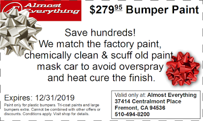 Discount Coupon $279.95 Bumper Paint Sale December 2019