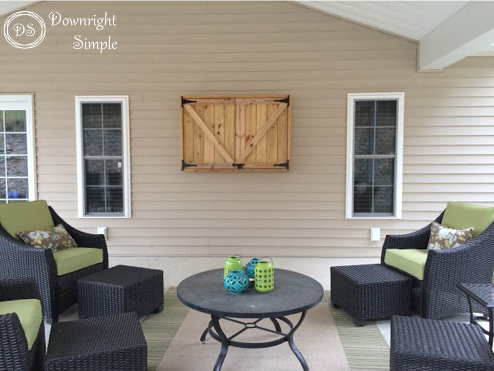 Downright Simple Outdoor Tv Cabinet