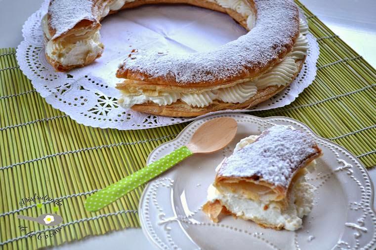 ROSCON O TORTEL DE HOJLADRE RELLENO DE NATA (crema de leche)