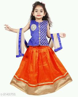 Kids's Girl's Lehanga Choli Sets