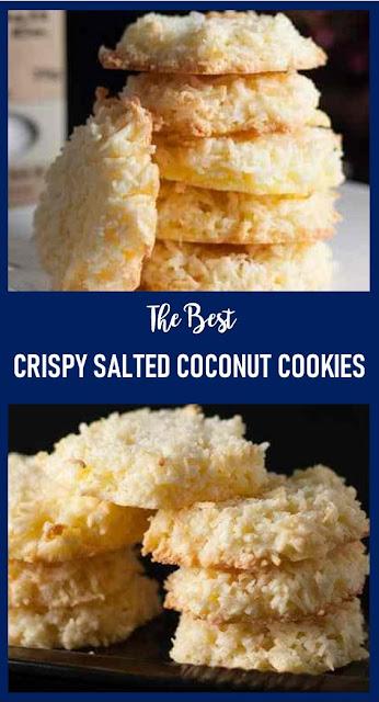CRISPY SALTED COCONUT COOKIES #dessert #coconut