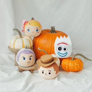 toy story painted pumpkins