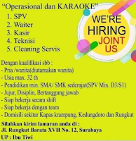 We Are Hiring at Operasional dan Karaoke Surabaya April 2021