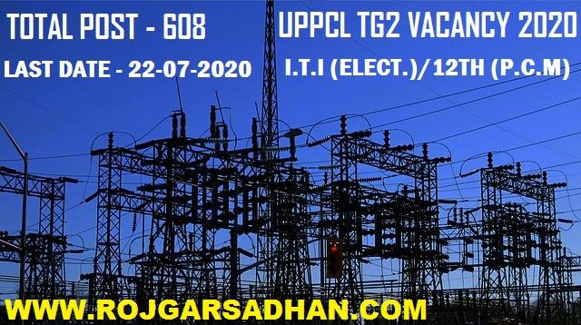 UPPCL TG2 Vacancy 2020 Technician Grade 2 Recruitment
