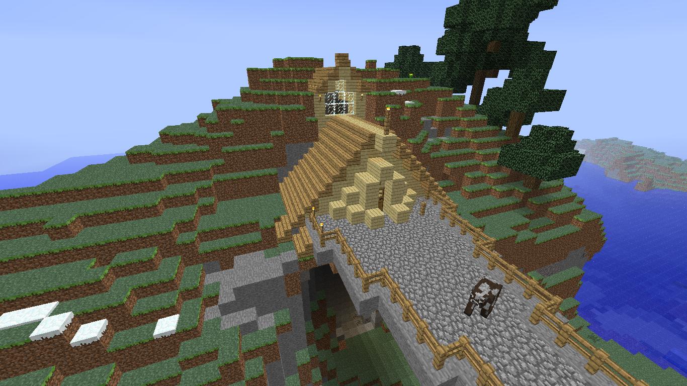 Minecraft Building Ideas: Cavehouse