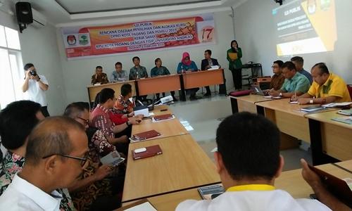 KPU Padang: Penetapan Rencana Dapil dan Alokasi Kursi Berdasarkan Kajian Keilmuan