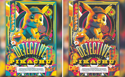 San Diego Comic-Con 2019 Exclusive Pokemon Detective Pikachu Movie Poster Screen Print by Matt Taylor x Mondo