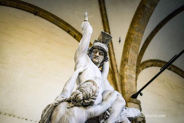 Florencja Dom z Kamienia Loggia dei Lanzi