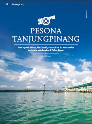 Pesona Tanjungpinang di Majalah Garuda Indonesia Colours Magazine, ruziana, unizara, blogger tanjungpinang