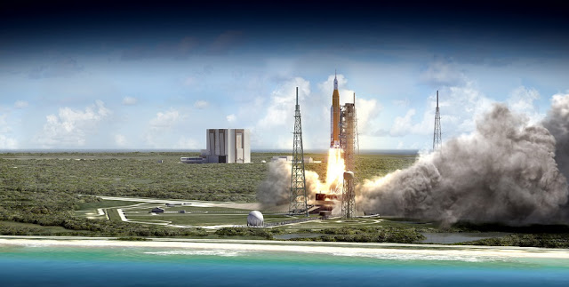 NASA¹s Space Launch System rocket will launch with Orion atop it from Launch Complex 39B at NASA¹s modernized spaceport at Kennedy Space Center in Florida. Credits: NASA