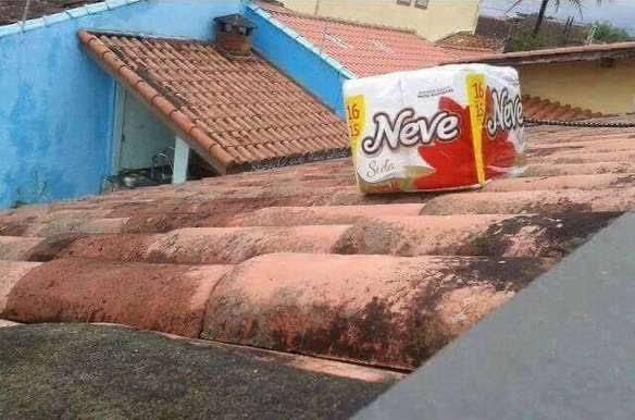 Na Palhoça já tem neve no telhado
