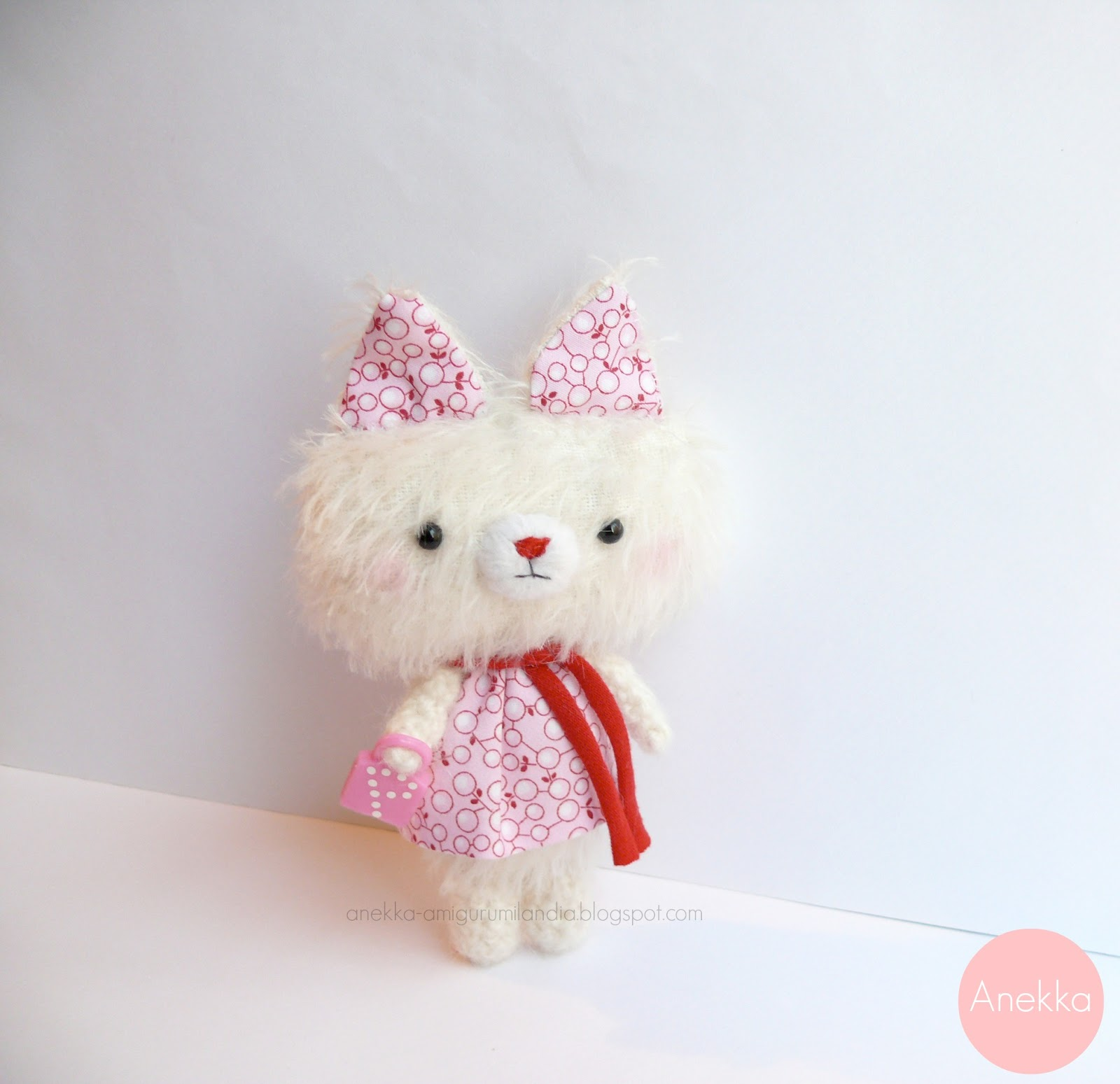cute doll mohair pink dress