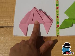 animali origami come realizzare rana saltarella