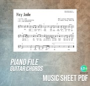 Hey Jude - The Beatles Music Sheet Piano Guitar Chords PDF File