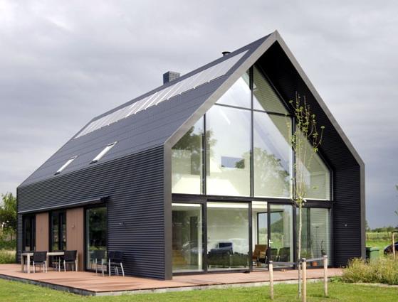 tampak exterior rumah minimalis scandinavian