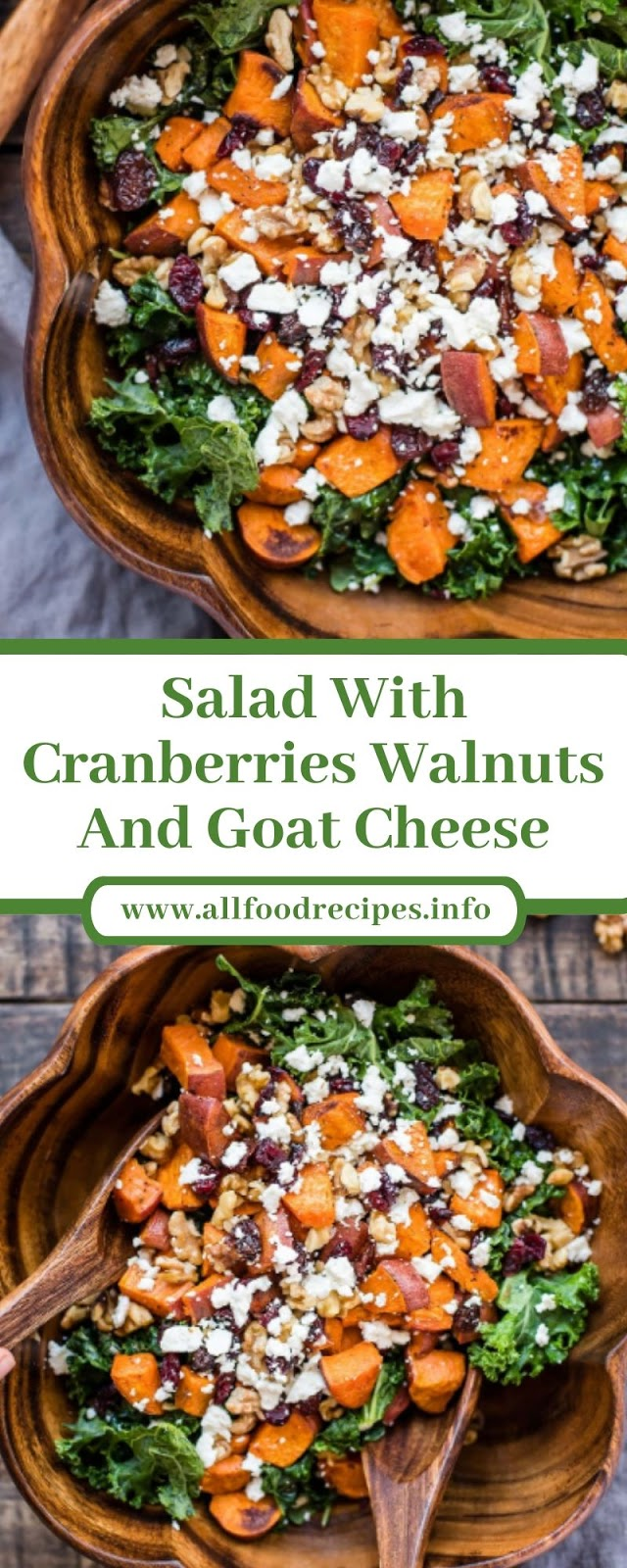 Salad With Cranberries Walnuts And Goat Cheese