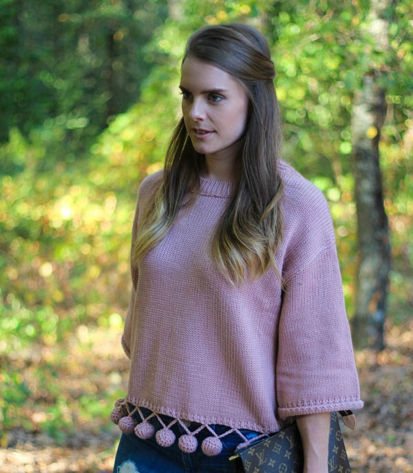 Blush Sweater For Fall