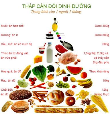 Chú trọng các loại thức phẩm giàu hàm lượng protein chất béo và tinh bột cao