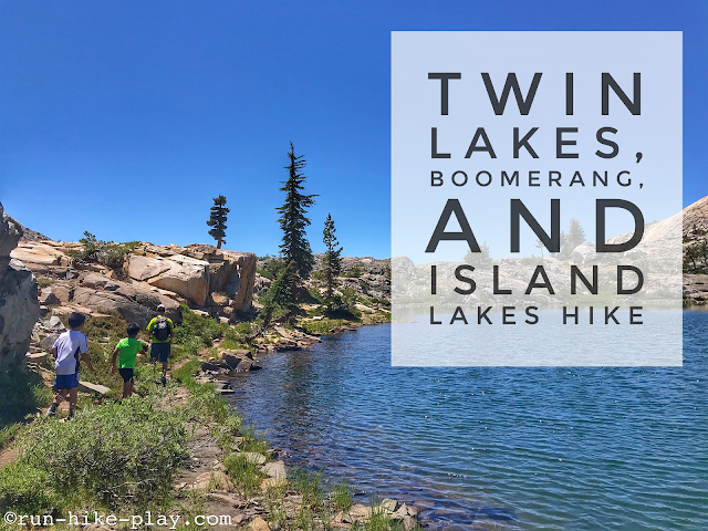 Twin Lakes trail, Boomerang and Island Lakes Hike