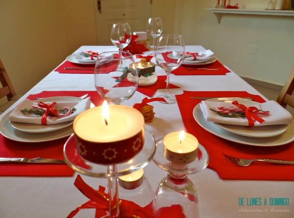 De lunes a domingo decoramos una mesa de navidad para la - Como adornar mesa de navidad ...