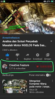 IKON Channel dan Tombol SUBSCRIBE Youtube