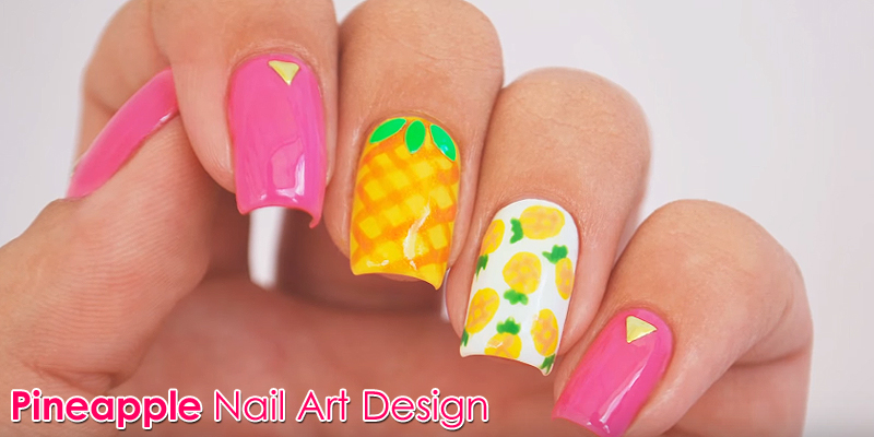 Learn - How To Make This Beautiful Pineapple Nail Art Design, See Entire Tutorial!