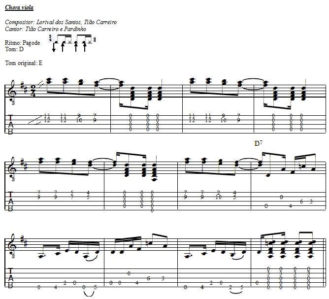 Viola pura  Chora viola - Tião Carreiro (partitura e tablatura) 88a0ec45fa7
