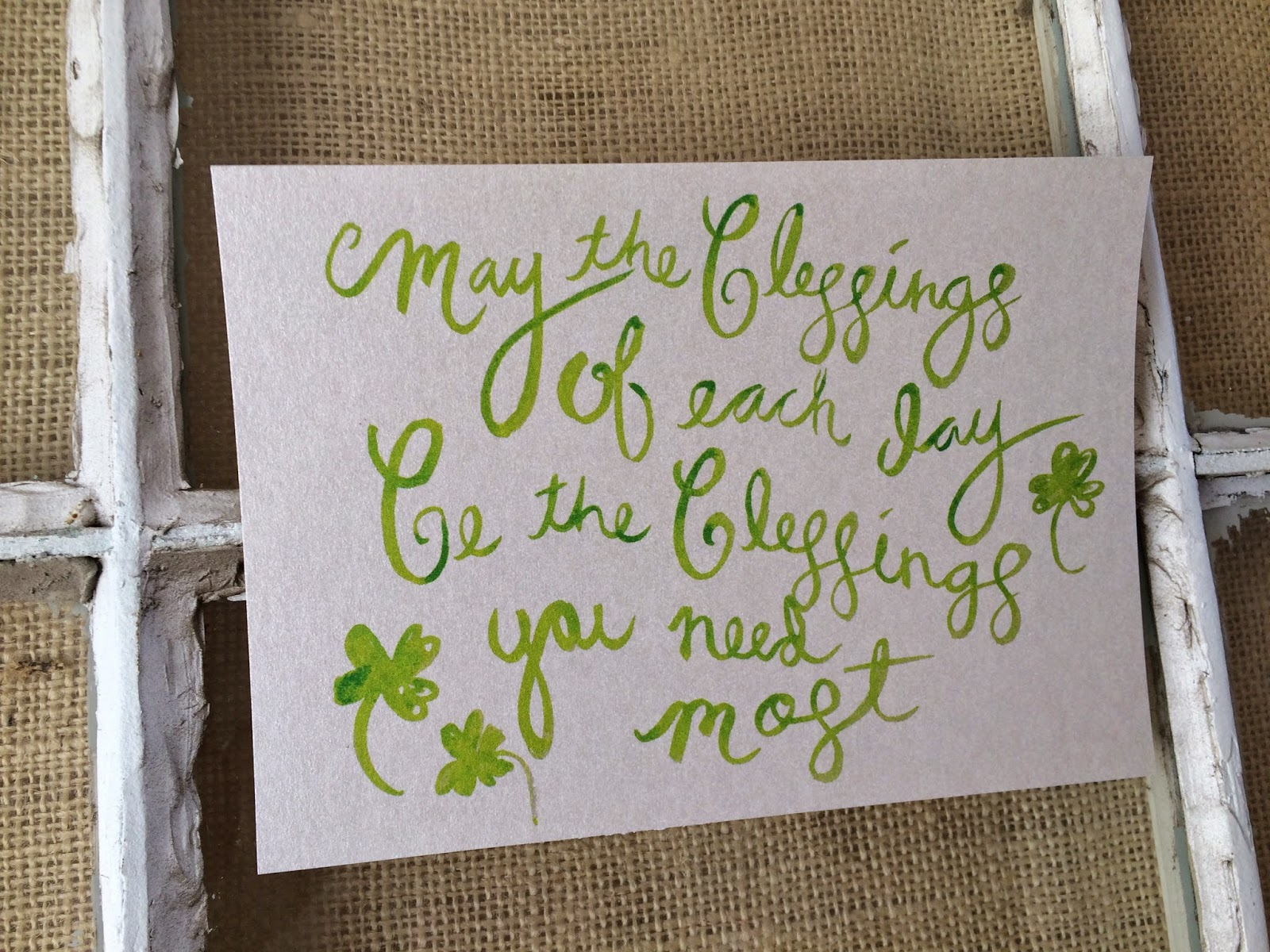 all things belle - irish blessing - free St. patricks printable - watercolor