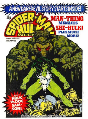 Spider-Man and Hulk Weekly #408, Man-Thing vs She-Hulk