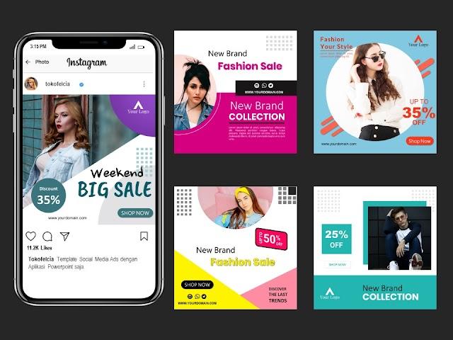 Download Template Social Media Post Usaha Fashion