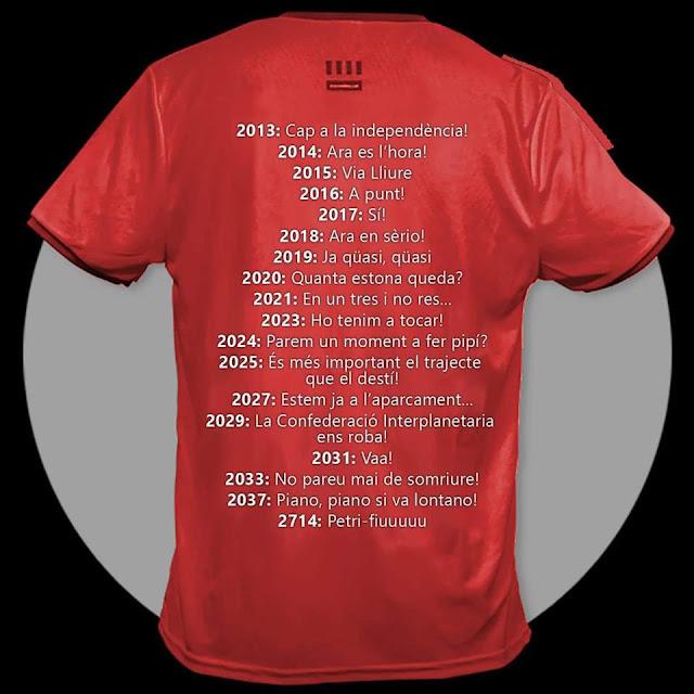 La camiseta dels independentistes cataláns