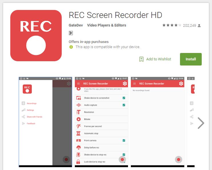 Rec Screen Recorder Pro на Андроид Скачать Бесплатно - Nine Store