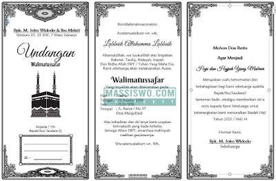 contoh surat undangan walimatussafar