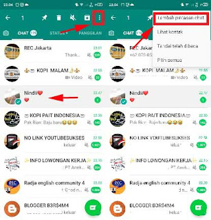 cara menampilkan whatsapp di layar utama