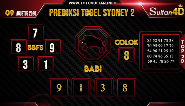 PREDIKSI TOGEL SYDNEY 2 SULTAN4D 09 AGUSTUS 2020