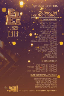 Latest Update : Bida Entertainment Legendary Awards (BELA) - Categories For Nomination