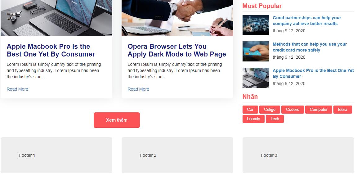 Bài 6 Sticky cho thanh Sidebar bằng CSS