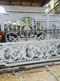 Pintu, Gerbang, Mewah, Railing, Balkon, Besi, Tempa, Klasik,