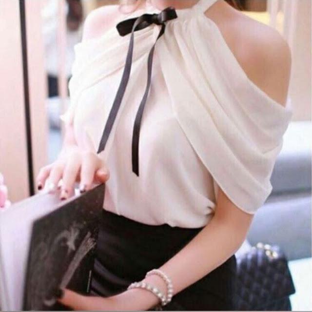 Γυναικείο άσπρο πουκάμισο MELANA