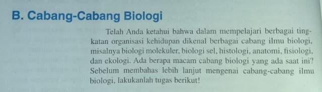 Cabang - Cabang Biologi