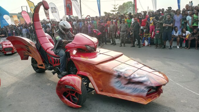 Ayade's bike used by another person