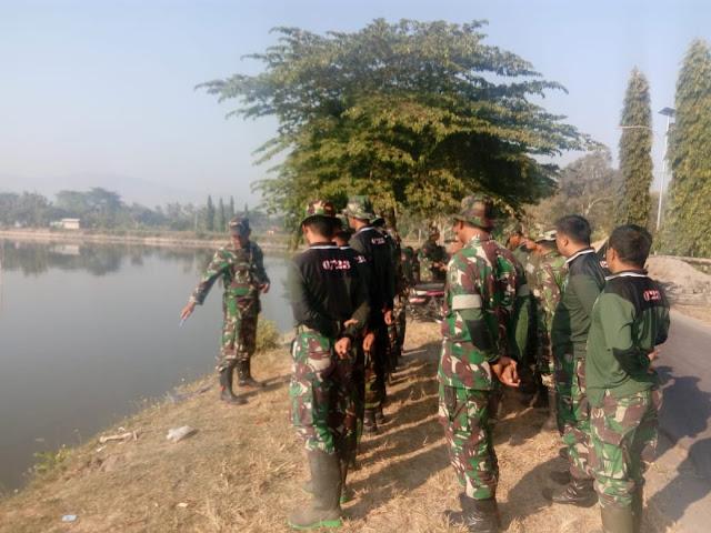 Dipinggir Rowo Jombor, TMMD Reg 105 Lakukan Ape Pagi